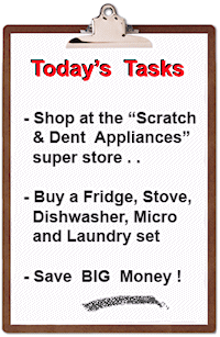 the Appliance Scratch and Dent Super Store saves BIG Money!